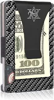 Carbon Fiber Wallet Money Clip – Slim Credit Card Holder - Small Card Holder Wallet with RFID Blocking - Minimalist Wallets for Men by Amare Vita
