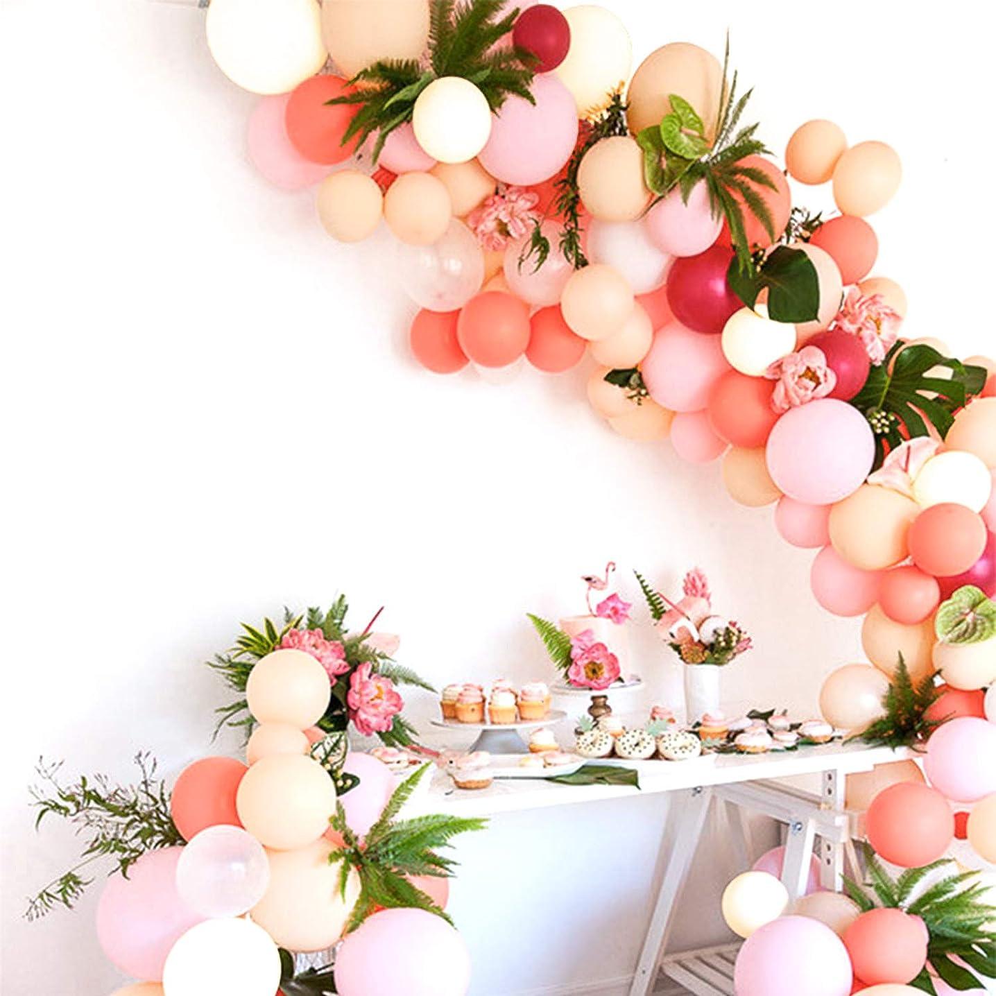 PartyWoo Blush Balloons 100 pcs 10 inch Blush Pink Balloons Coral Balloons Baby Pink Balloons Pastel Balloons Blush Party Decorations, Blush Wedding Decorations, Blush Pink Party Decorations
