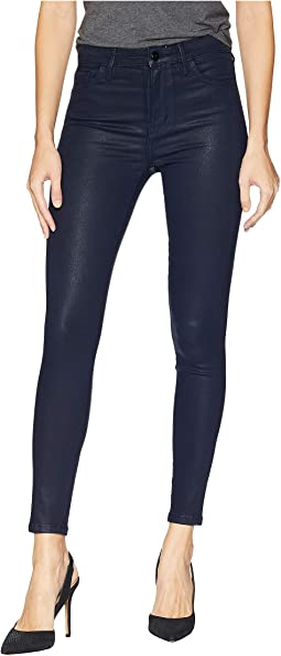 Stiletto High-Rise Ankle Skinny in Navy Coated