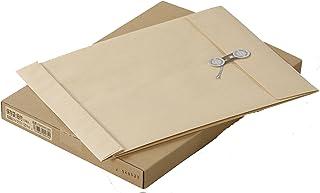 キングコーポレーション 封筒 保存用 角形2号 ひも付 10枚 クラフト K2KHH120