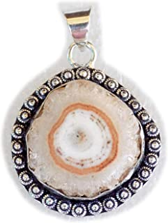 Solar Agate Druzy Pendant, Silver Plated Brass Pendant, Handmade Pendant, Gift Jewelry, Women Jewellry, Fashion Jewellry, ...