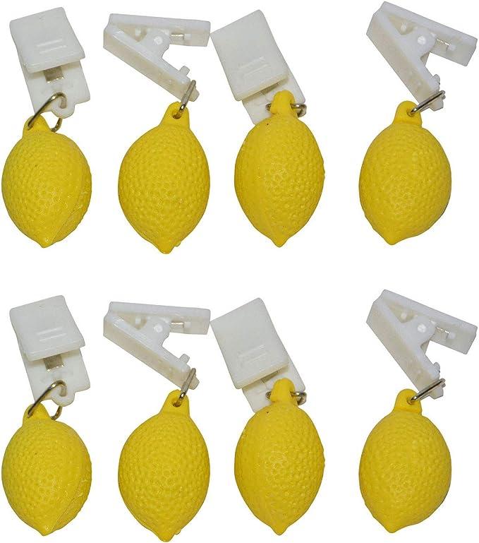 all-around24 Pesos para mantel (8 unidades, limón): Amazon ...