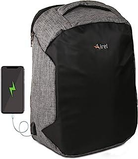 Airel Mochila portátil-Inteligente | Mochila Impermeable para Portátil con Puerto USB | Daypack Portátil Mochila para Ordenador Portátil | Mochila con Cargador | Medidas: 46x33x16 cm. 15.6 Pulgadas