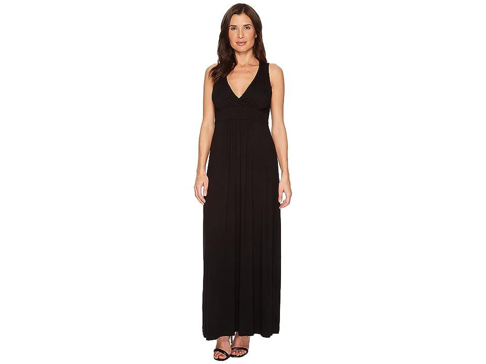 Karen Kane V-Neck Maxi Dress (Black) Women