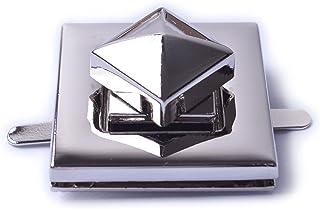 Bobeey 2sets 31x31mm Square Purses Locks Clutches Closures,Metal Twist Locks Purse Closure Turn Locks BBL6 (Silver)