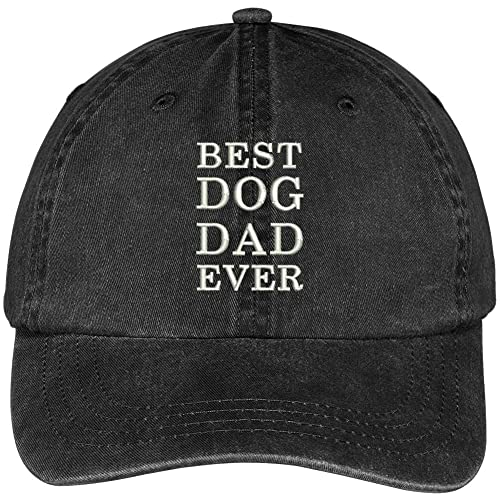 Trendy Apparel Shop Best Dog Dad Ever Embroidered Soft Fit Washed Cotton  Baseball Cap f84798aafeab