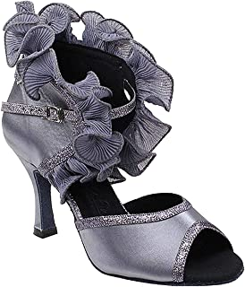 "Women`s Ballroom Dance Shoes Tango Wedding Salsa Shoes Sera7013EB Comfortable-Very Fine 2.5""[Bundle of 5]"