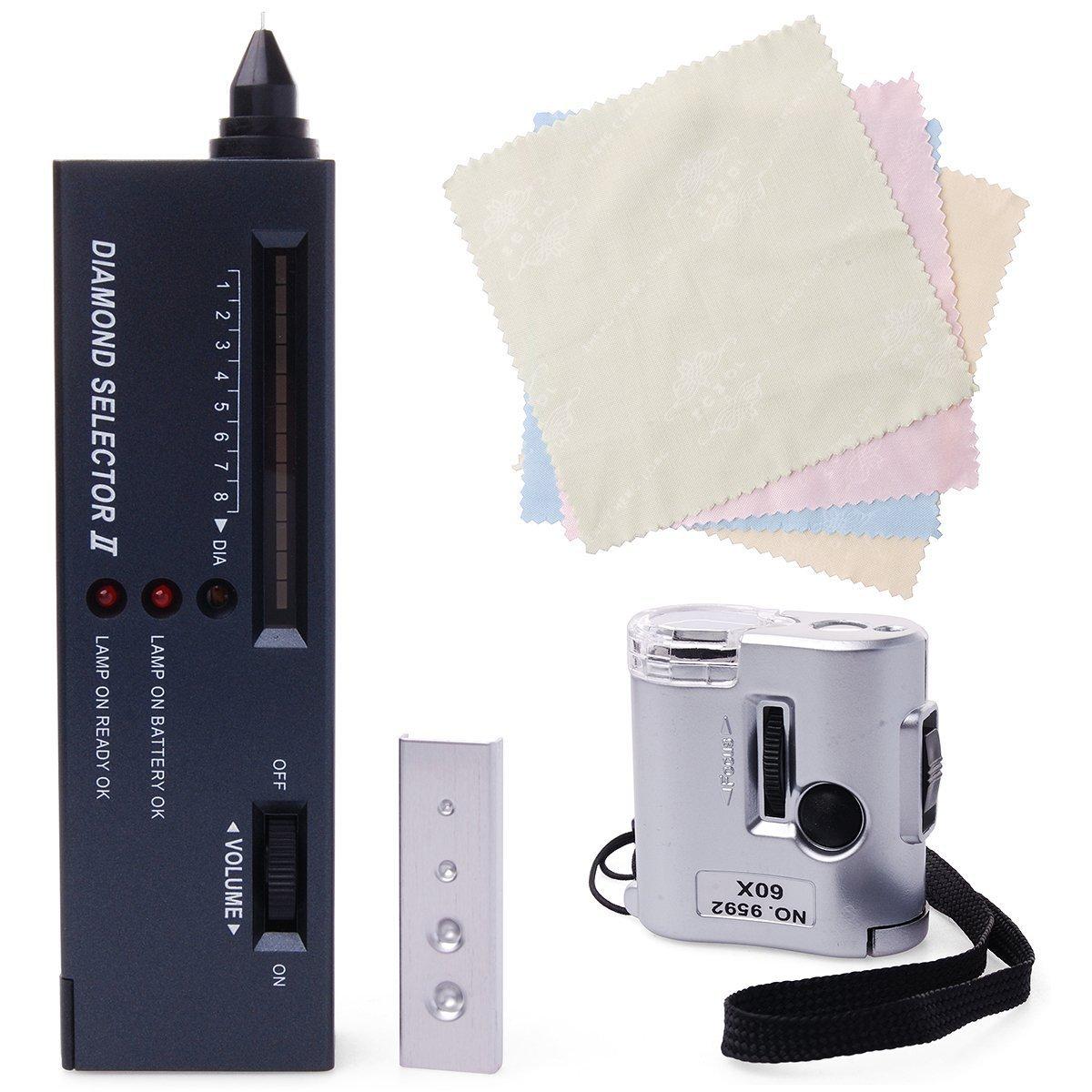 60X LED Loupe QUMOX Portable Diamond Selector II V2 Gemstone Tester Tool