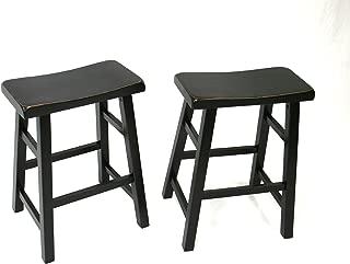 Set of 2 Heavy Duty Saddle Seat Bar Stools Counter Stools - 24
