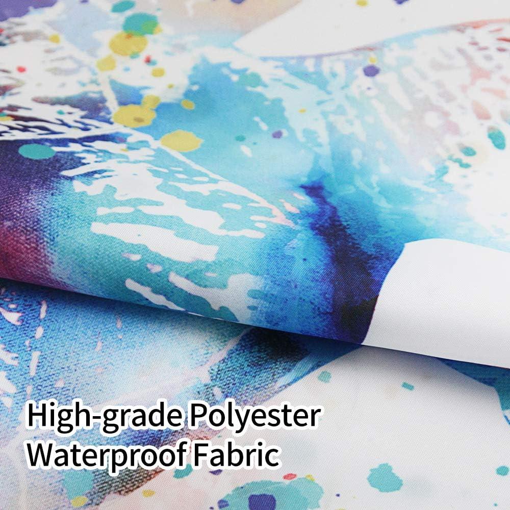 gris et for/êt 180 x 180 cm SUMGAR Rideau de douche en polyester imperm/éable avec 12 anneaux en plastique blanc