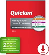Quicken Home & Business 2019 Personal Finance & Small Business Software [PC Download] 1-Year Subscription + 2 Bonus Months [Amazon Exclusive]