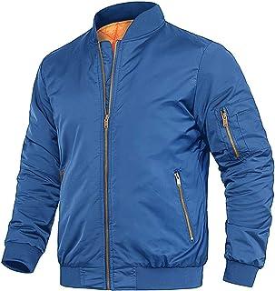Men's Winter Bomber Jacket With Zipper Pockets Thicken Warm Baseball Jacket