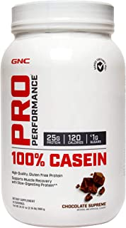 GNC Pro Performance 100% Casein Protein Powder - Chocolate Supreme, 28 Servings, Supports Muscle Recovery