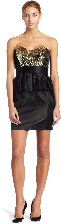 ABS by Allen Schwartz Women's Strapless Sequin Bodice Peplum Dress