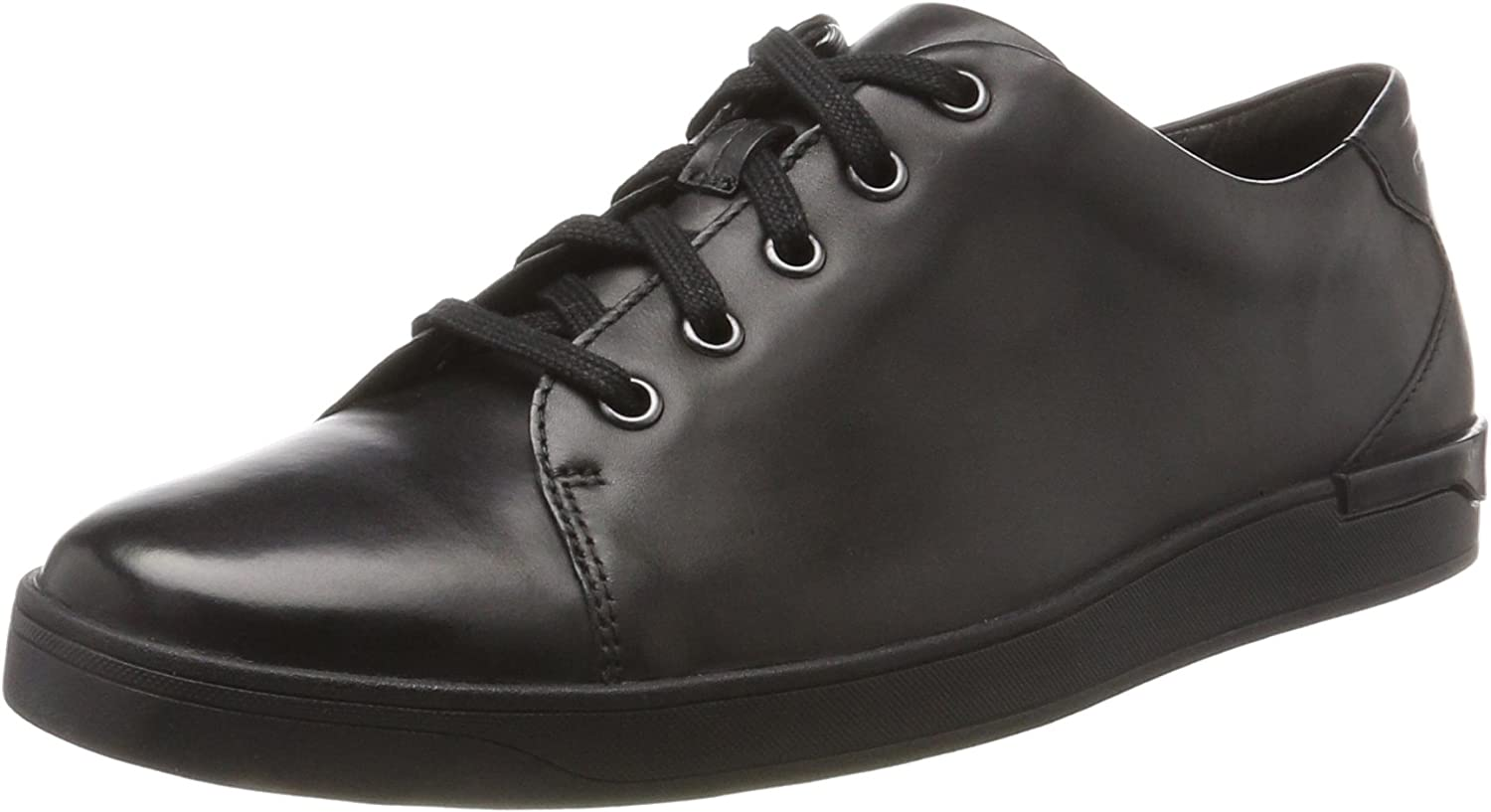 Clarks Stanway Lace - Black Leather Mens shoes