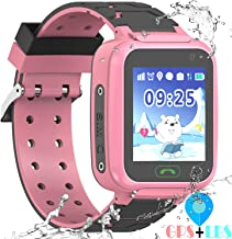 """YENISEY Kids Waterproof GPS Smartwatches Phone - WiFi GPS LBS Tracker Locator 1.4"""" Touch Screen Wrist Watch with Call Voice Chat Pedometer Alarm Clock Gifts for Boys Childrens Day Girls"""
