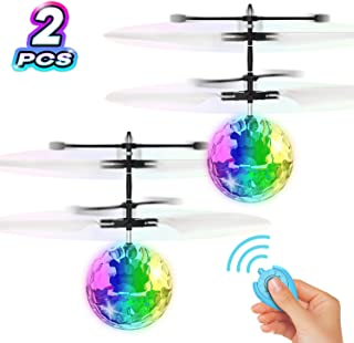 YEZI Flying Ball Toys, RC Toy for Kids Boys Girls Gifts Rechargeable Light Up Ball Drone Infrared Induction Helicopter with Remote Controller for Indoor and Outdoor