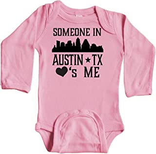 inktastic Austin Texas Someone Loves Me Skyline Long Sleeve Creeper