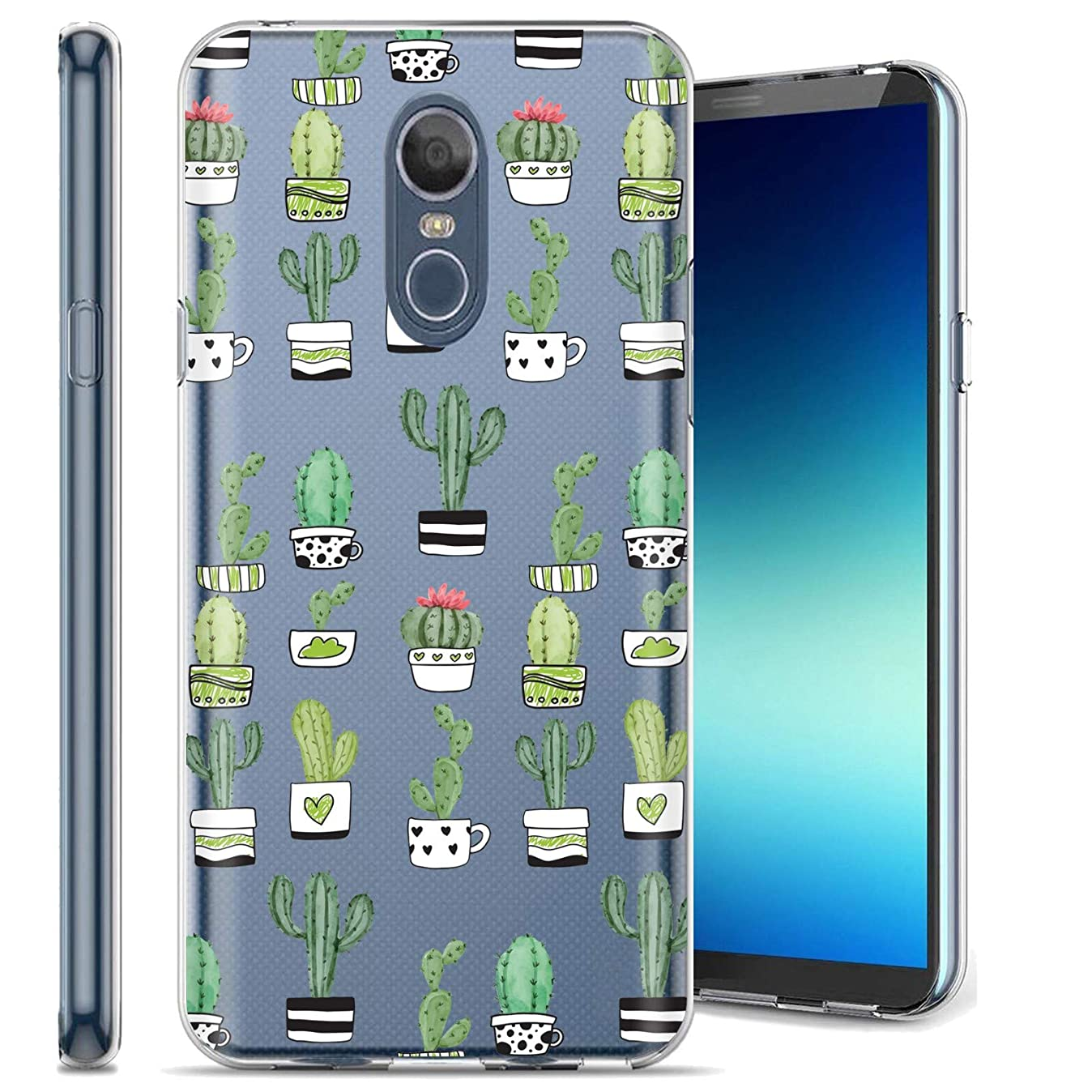 LG Stylo 4 / Stylo 4 Plus Phone Cover Case by [TalkingCase], Clear Premium Thin Gel Phone Cover, Ultra Flexible Slim TPU, Made Specially for LG Stylo4,Stylo4 Plus [Cute Cactus Watercolor] Design z8673614994