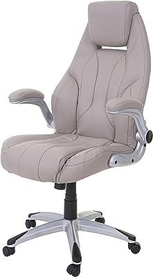 Chefsessel Schreibtischstuhl Bürostuhl HWC-A71 Textil Wildlederimitat braun