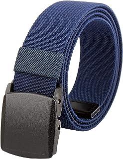 BLUE SINCERE ベルト メンズ YKKバックル 超伸縮 大きい フリーサイズ 軽量 ナイロン 作業着 仕事用 NB1