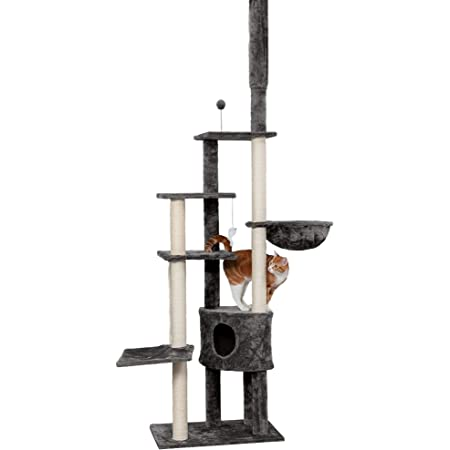 Amazon Com Furhaven Pet Cat Tree Tiger Tough Cat Tree House Condo Perch Entertainment Playground Furniture For Cats And Kittens Skyscraper Playground Gray Pet Supplies
