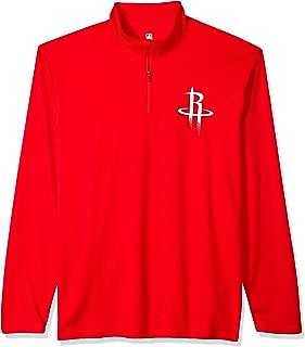 Ultra Game NBA Men's Quarter-Zip Pullover Active Performance Shirt