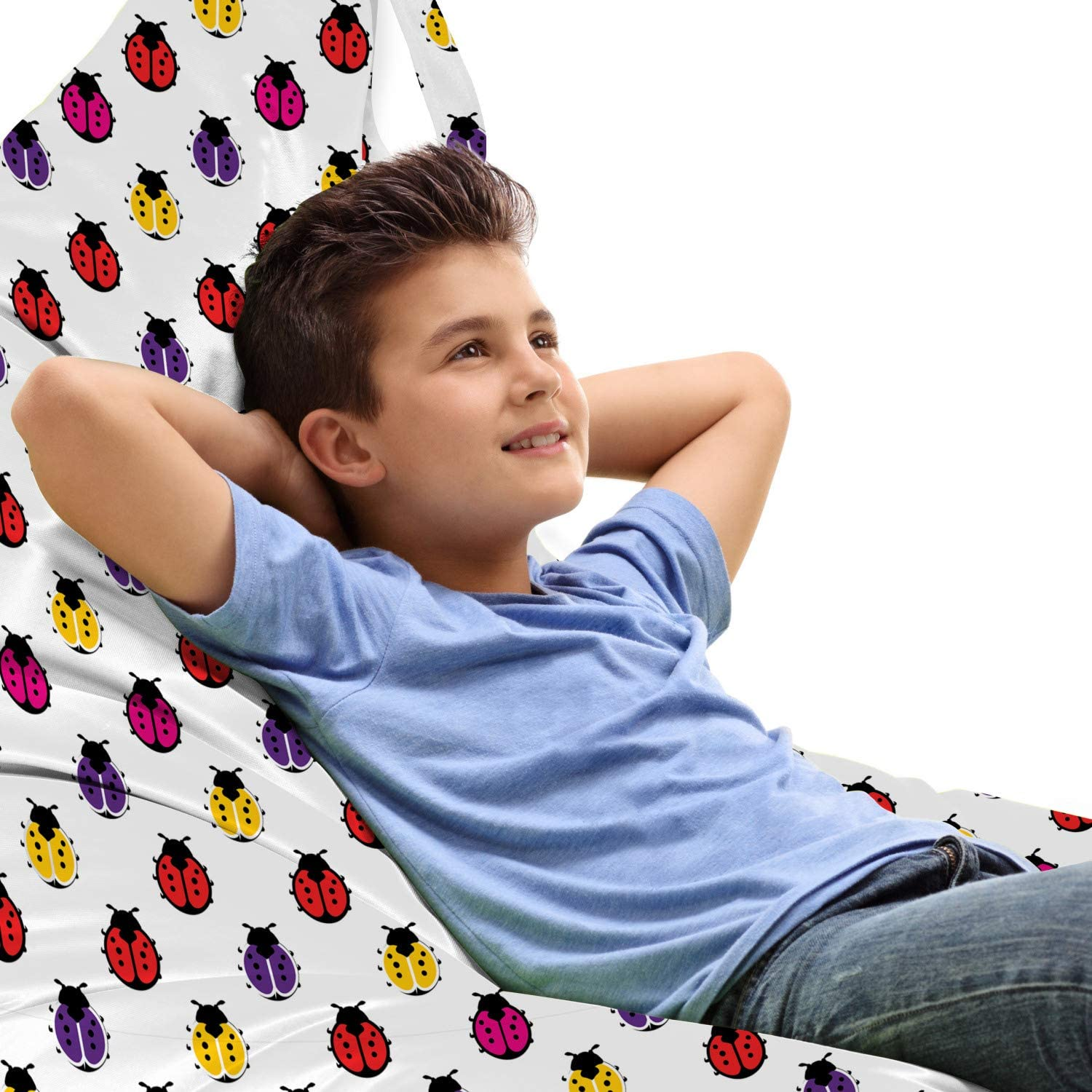 Ambesonne Sales of SALE items from new works Ladybug Lounger Chair Bag Colorful Spotted Popular popular Minimal Wi