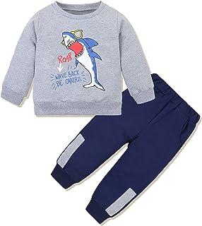 ملابس للأولاد الصغار (1-6T) طقم سويت شيرت للرضع والأولاد