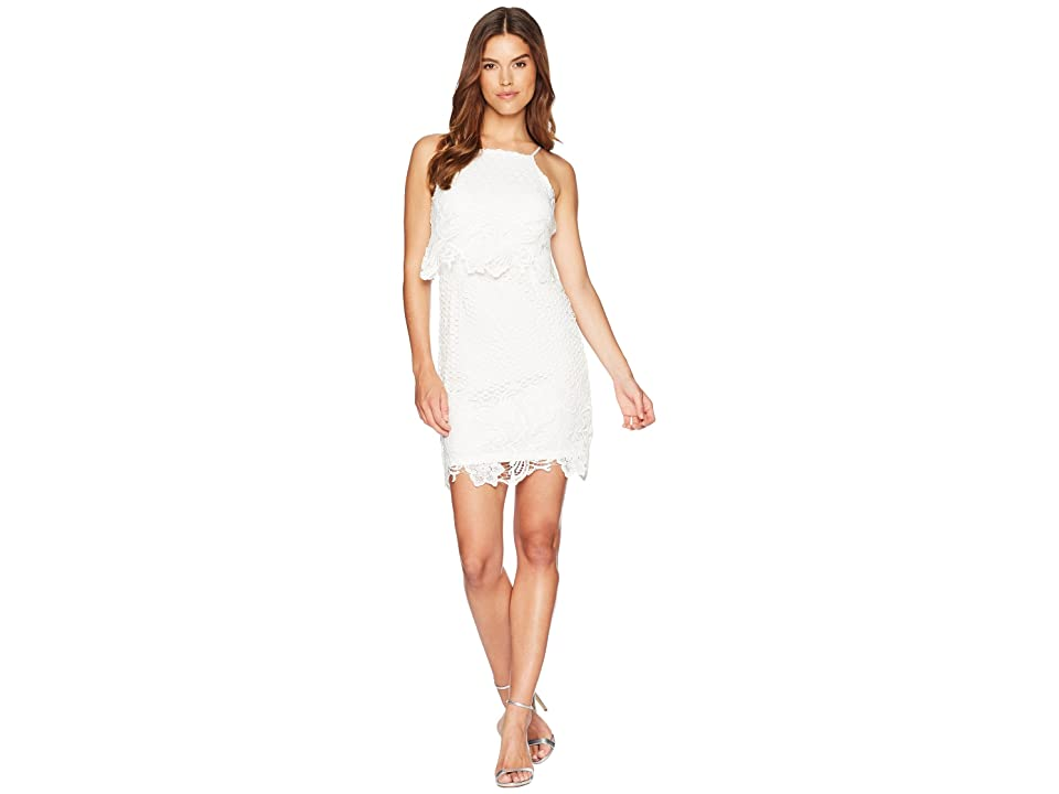 BB Dakota Bryn Bodycon Lace Dress (White) Women
