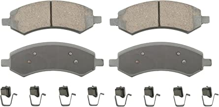 Wagner ThermoQuiet QC1084 Ceramic Disc Pad Set With Installation Hardware, Front