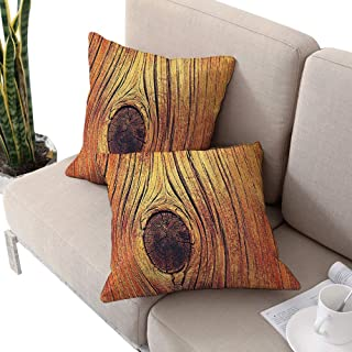 Rustic Home Decor Square futon cushion cover ,Life Tree Concept with Divided Core Macro Circles Habitat Natural Wonder Photo Brown W18