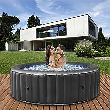 Miweba MSpa aufblasbarer Whirlpool 2021 Comfort Bergen C-BE041 - für 4 Personen - 118 Luftdüsen - 180.0 x 180.0 x 70.0 cm...
