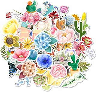 HaokHome 140pcs Not Repeat Flower Laptop Stickers Floral for Kids Toys Nursery Water Bottle Computer Notebook Car Skateboa...