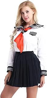 Women's Long Sleeves Japanese School Uniform Sailor Suit Cosplay Costume