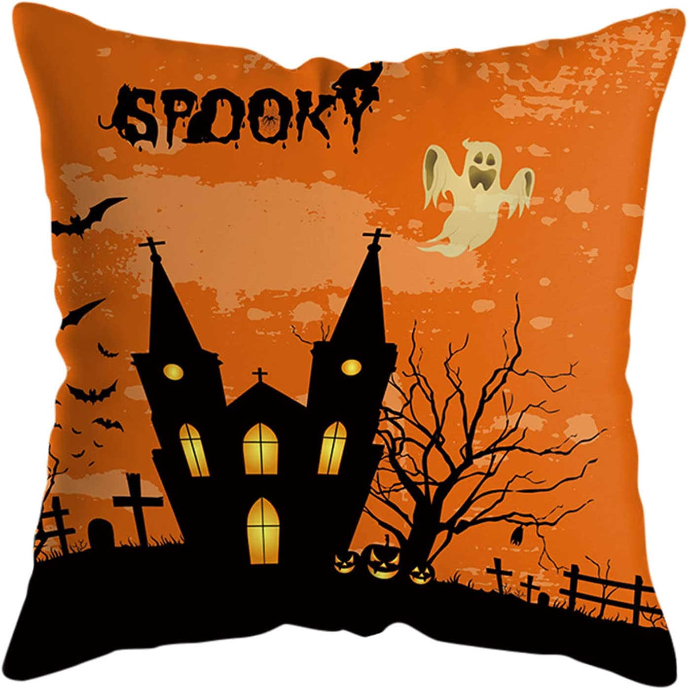 fvbhty OFFicial shop 18x18 Inches price Halloween Home Throw Decorations Pill Spooky