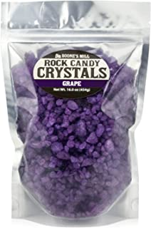 Purple - Grape Rock Crystal Candy   1 Pound In A Resealable Stand-Up Bag   Boone's Mill
