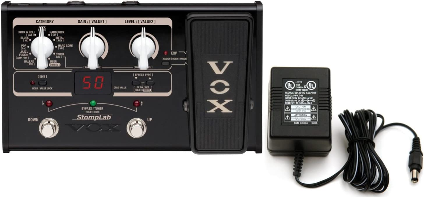 Vox Stomplab IIG 評価 2G Guitar Multi-Effects 年間定番 w Pedal Built-In Expres
