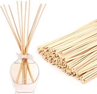 """Yesland 300 Pack Wood Rattan Reed Sticks, Natural Reed Diffuser Sticks - 10"""" X 3mm - Replacement Essential Oil Aroma Diffu..."""