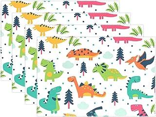 Set de Table Dinosaure de Bande Dessinée Résistant à la Chaleur Antidérapant Mignon 12x18 Pouce 1 pièce Table Mats pour Di...