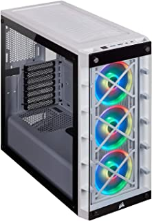Corsair iCUE 465X RGB Mid-Tower ATX Smart Case (Tempered Glass Side & Front Panels, Three LL120 RGB Fans Included, Expansi...
