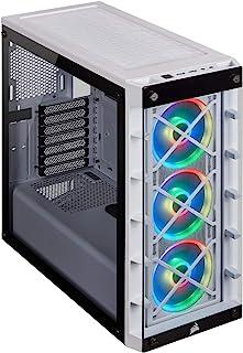 Corsair iCUE 465X RGB Cristal Templado Chasis Semi-torre ATX Inteligente (Paneles Lateral y Frontal de Cristal Templado, T...