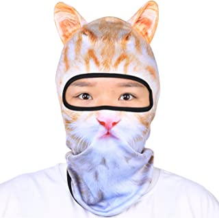 Oumers 3D Animal Balaclava Face Mask with Ears Breathable Hood Full Face Head Shield for Outdoor Sports Motorcycle Ski Music Party, Gift. One Size Fit Most