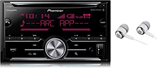 Pioneer Double DIN In-Dash Built-in Bluetooth iPod iPhone HD Radio CD AM/FM MP3, Front USB, Pandora, iHeartRadio Spotify SiriusXM Satellite Radio Ready Car Stereo Receiver / Free ALPHASONIK Earbuds