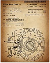 Wankel Rotary Engine - 11 x 14 Unframed Patent Print - Great Gift for the Mazda, RX-8, Drifitng, or Auto Enthusiast.