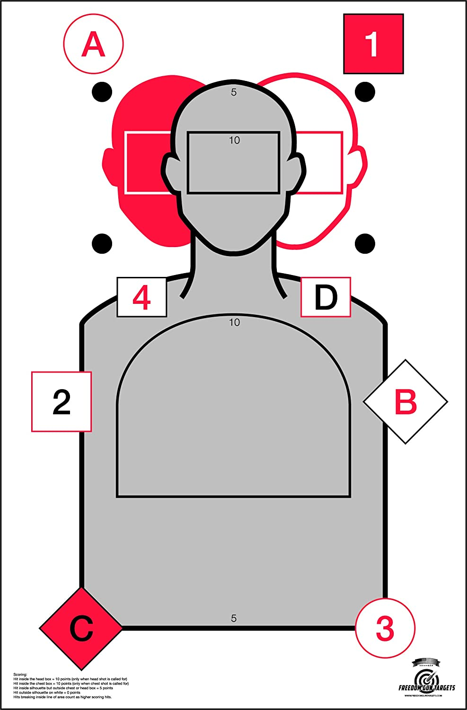 ファッション通販 Freedom Gun Targets 23x35 Hostage Training Target 贈答品