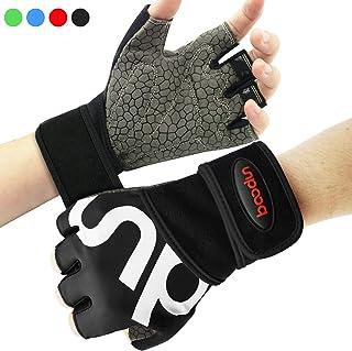 Rongli Trainingshandschuhe Kraftsport Fitness Handschuhe Anti-Rutsch Gewichtheben Handschuhe f/ür Damen und Herren mit Silikon Polsterun Atmungsaktiv
