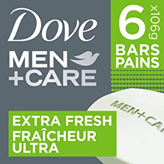Dove Men +Care Body and Face Bar for refreshed Skin Extra Fresh 1/4 Moisturizing Cream 106 g 6 Count