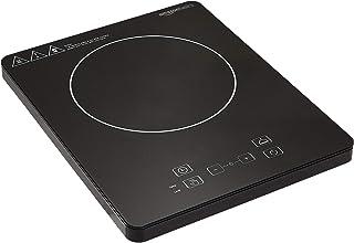 Amazon Basics Cuisinière à induction avec écran numérique, bouton de contrôle tactile, fonction minuteur, 2000W - Noir