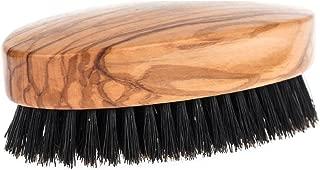 Fendrihan Genuine Boar Bristle and Olivewood Military Hair Brush, MEDIUM STIFF Bristle, Made in Germany